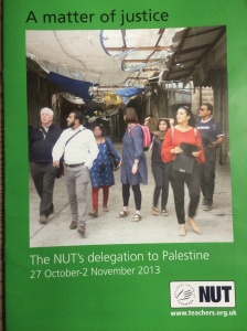 NUT delegation to Palestine report